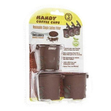 Handy Coffee Cups Reusable Single Serve Fillers for Single Cup Brewers - 3 Cups ()