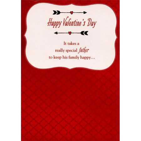 Designer Greetings Two Arrows: Father Valentine's Day Card