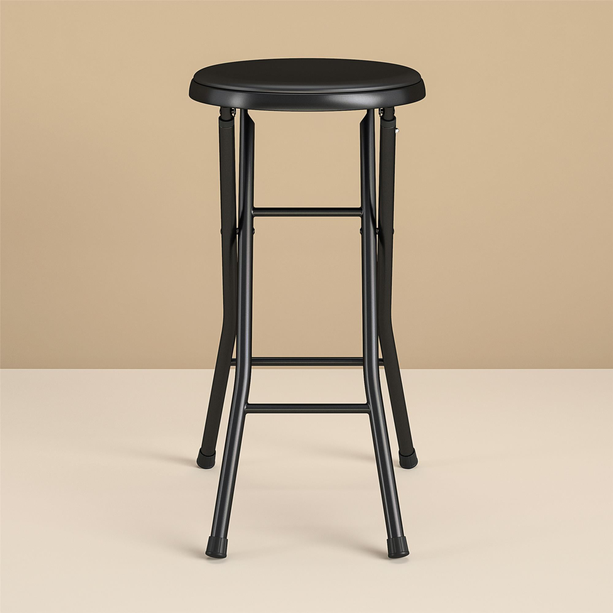 Mainstays Folding Metal Stool Black Walmart Com Walmart Com
