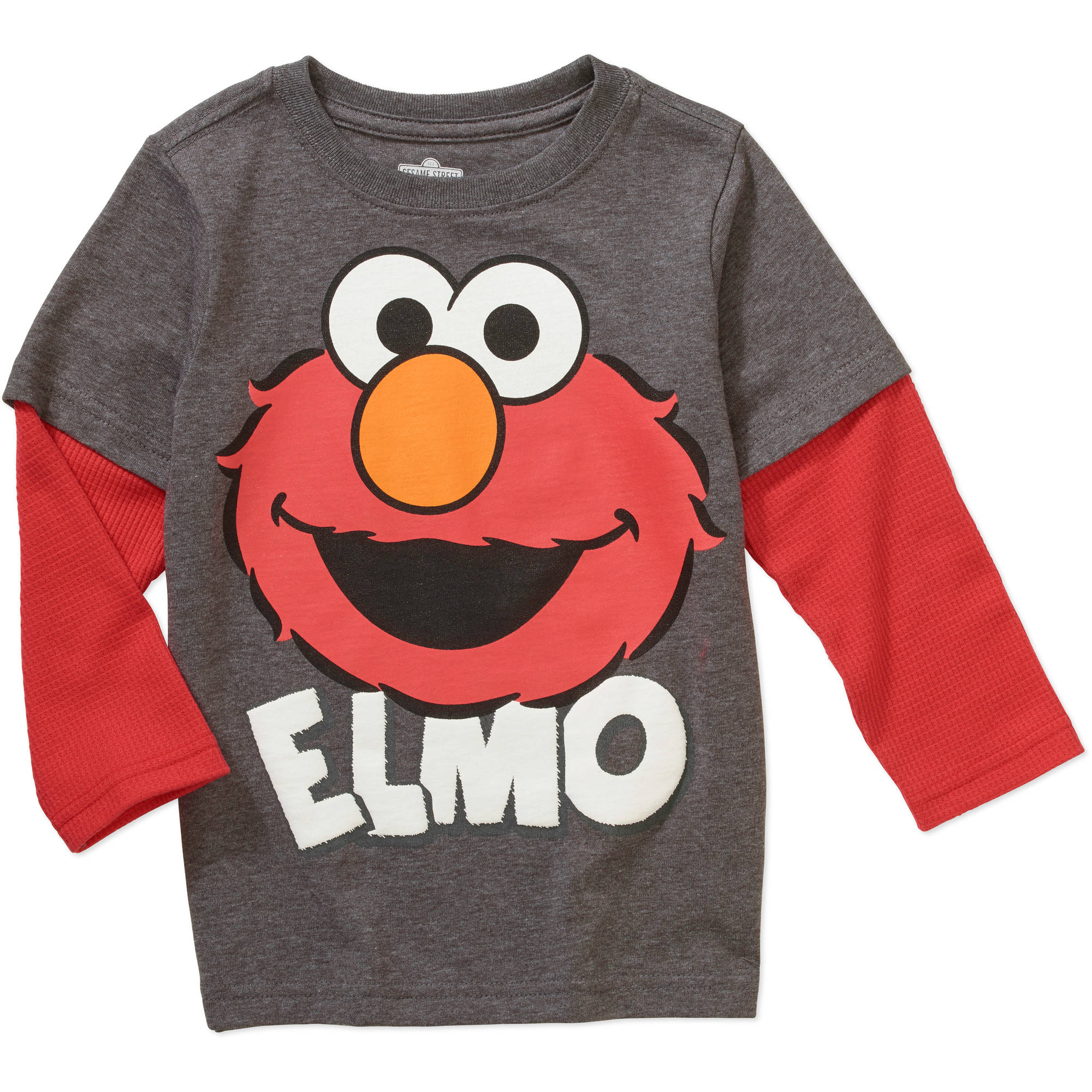 Sesame Street Elmo Toddler Boy Hangdown Graphic Tee Shirt