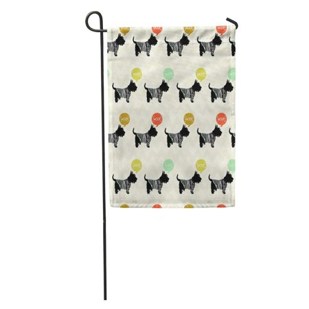 SIDONKU Sketch Scottish Terrier in Sailor Speech Bubbles Sketchy Dogs Garden Flag Decorative Flag House Banner 12x18 inch