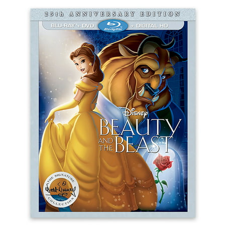 Beauty And The Beast (25th Anniversary Edition) (Blu-ray + DVD + Digital HD) - Cheap Disney Movies