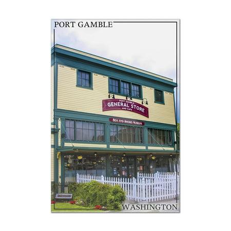 Port Gamble, Washington - General Store - Lantern Press Photography (8x12 Acrylic Wall Art Gallery Quality) ()