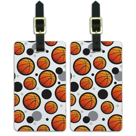 - Graphics and More Basketball Ball Sports Hoops Luggage Suitcase Carry-On ID Tags Set of 2
