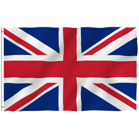 ANLEY [Fly Breeze] 3x5 Feet British Flag - Vivid Color and UV Fade Resistant - Canvas Header and Brass Grommets - United Kingdom UK Flags
