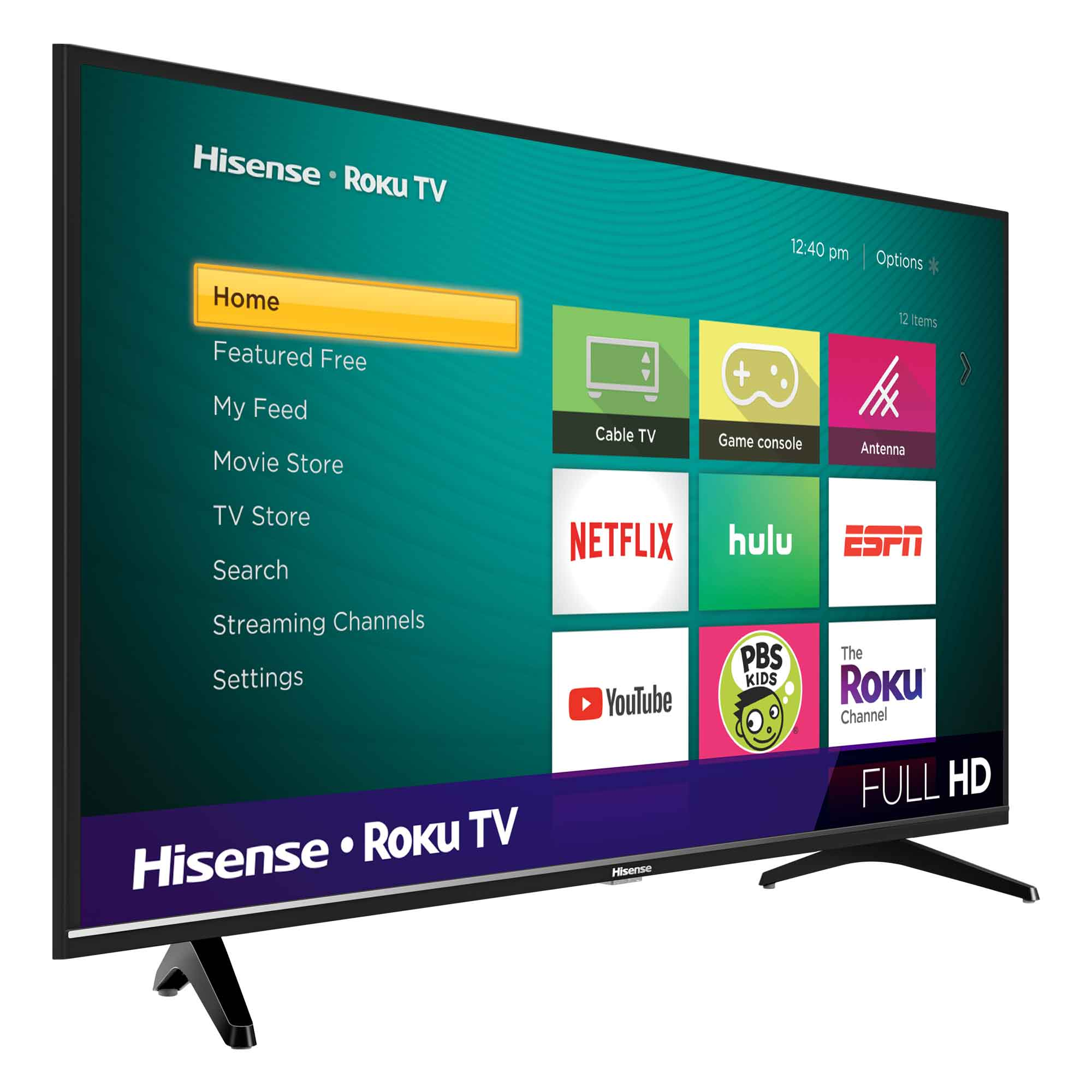 Hisense 40 Class Fhd 1080p Roku Smart Led Tv 40h4030f1 Walmart Com Walmart Com