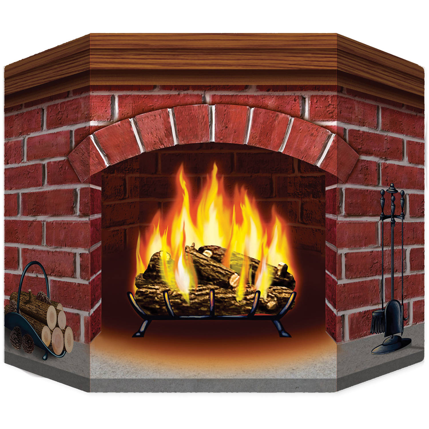 Brick Fireplace Standup Halloween Decoration