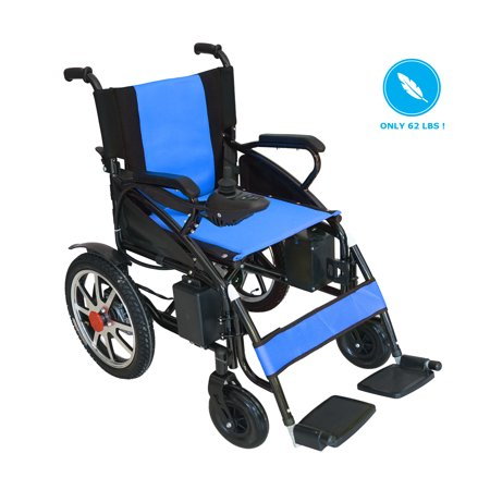 Horizon Mobility Folding Electric Wheelchair Heavy Duty Lightweight Lithium Battery Motorized Power Wheel