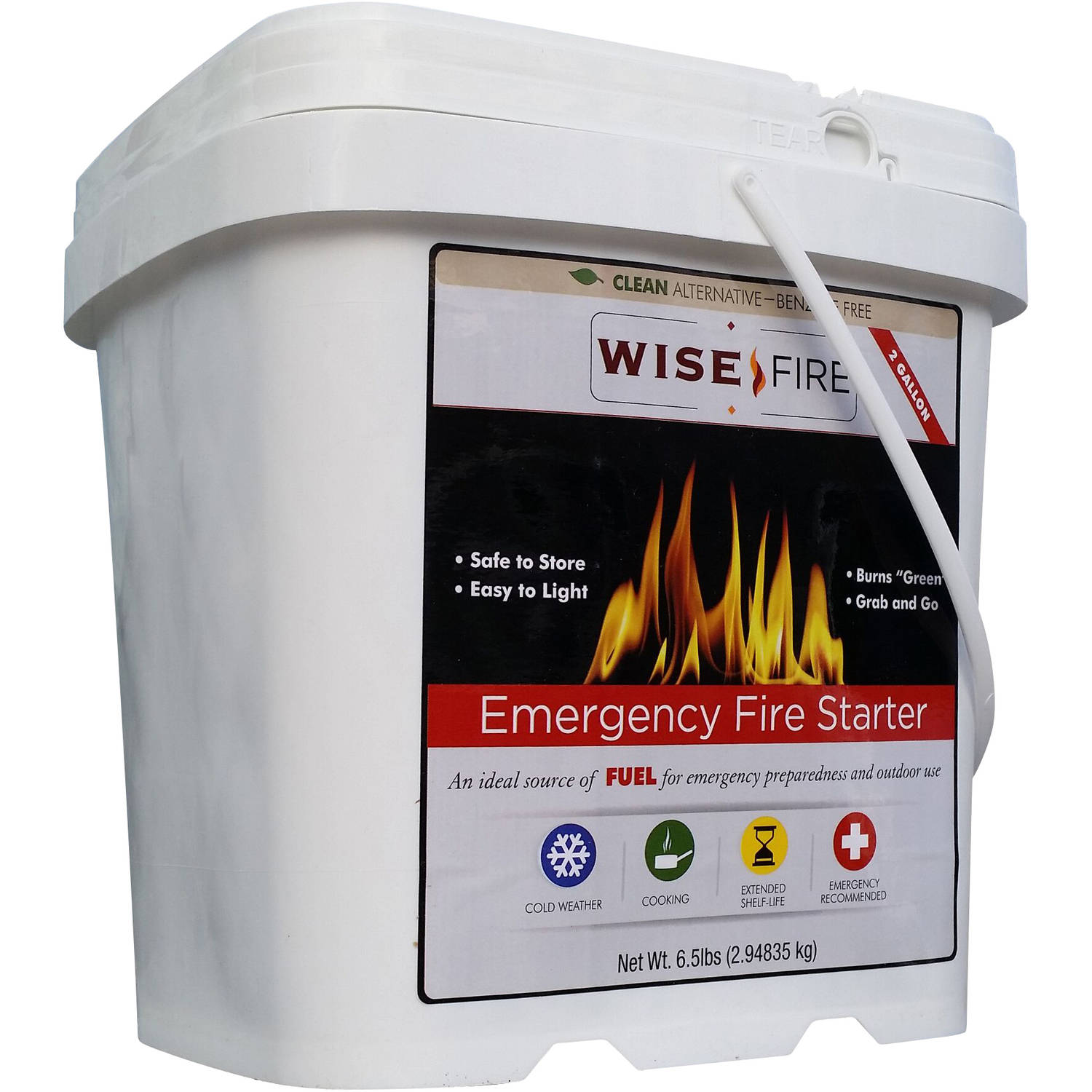 WiseFire Emergency Fire Starter, 6.5 lbs by Wise Company, Inc