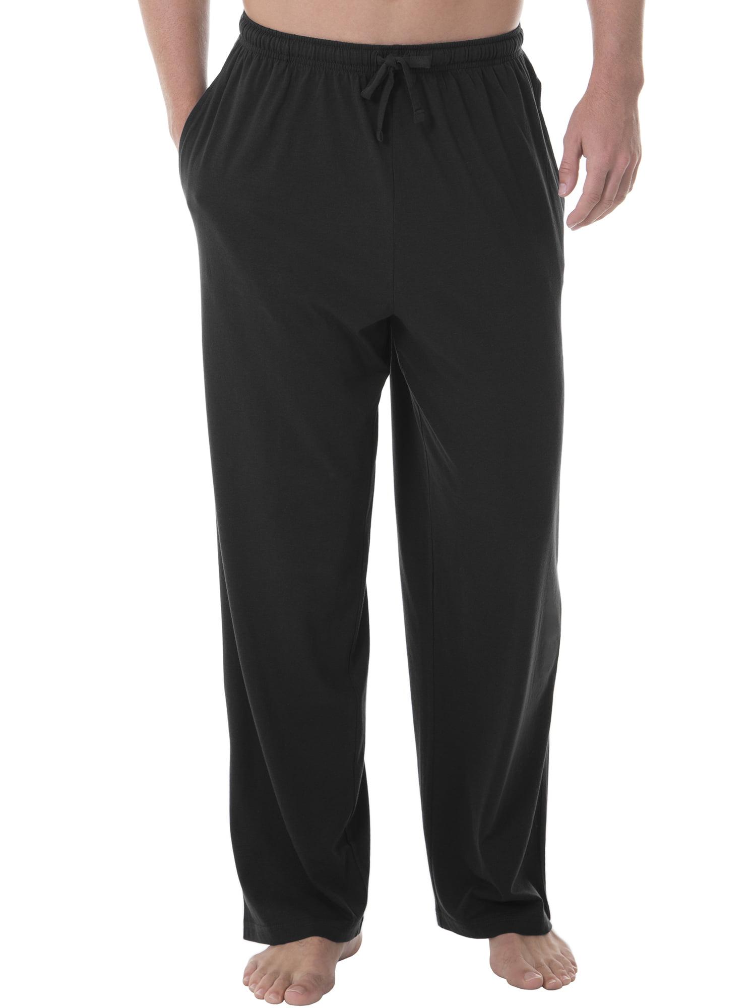 Big and Tall Men's Cotton Jersey Elastic Waist Lounge Pants