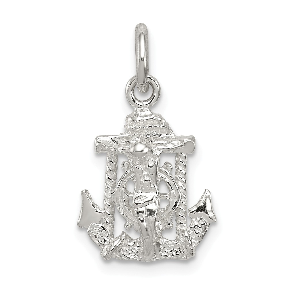 Solid 925 Sterling Silver Pot-of-Gold Bead Small Charm Tiny Pendant 8mm x 11mm