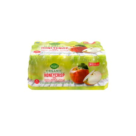 Apple Berry Farm - Wellsley Farms Organic Apple Juice Honeycrisp, 10 fl oz, 24 Count