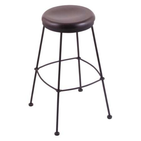 - Holland Bar Stool Stationary 30 in. Bar Stool with Wood Seat - Black Wrinkle