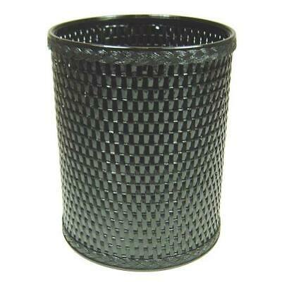 Chelsea Collection Decorator Color Round Wicker Wastebasket, Black Chelsea Collection Round Wastebasket