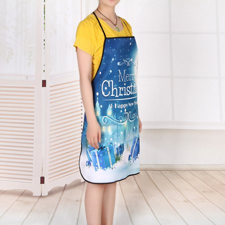 Christmas Decoration Waterproof Apron Christmas Dinner Party Apron ()
