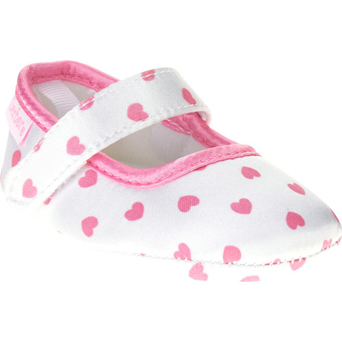 Gerber Newborn Girl Heart Print Soft-Sole Mary Jane Shoes