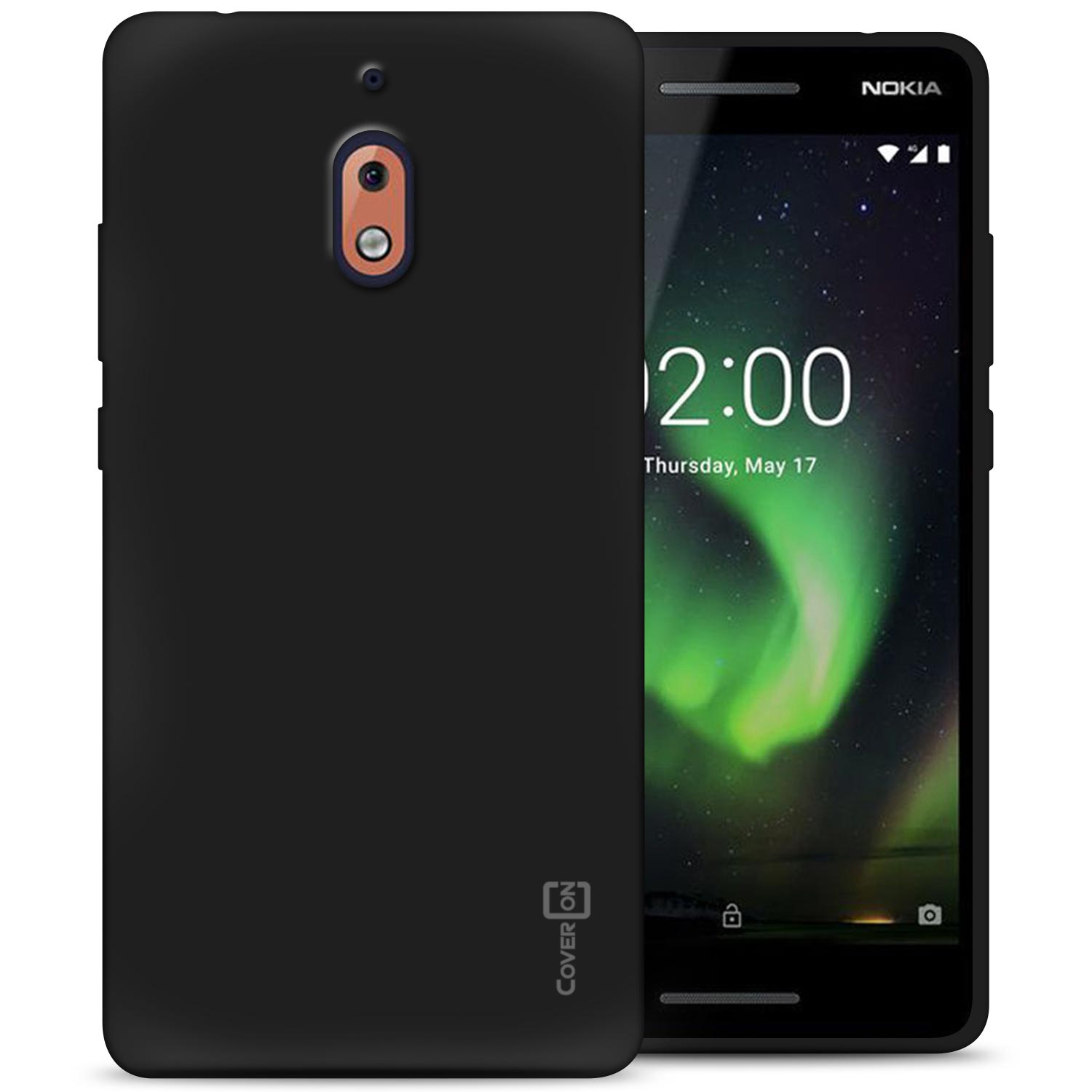 CoverON Nokia 2.1 (2018) / 2V Case, FlexGuard Series Soft Flexible Slim Fit TPU Phone Cover