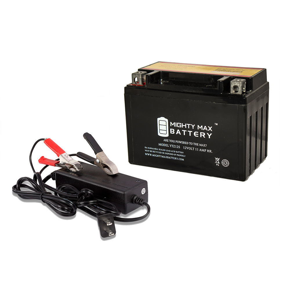 YTZ12S Battery Replaces KTM 950 RC8 2003-2012 + 12V 2Amp Charger by Mighty Max Battery