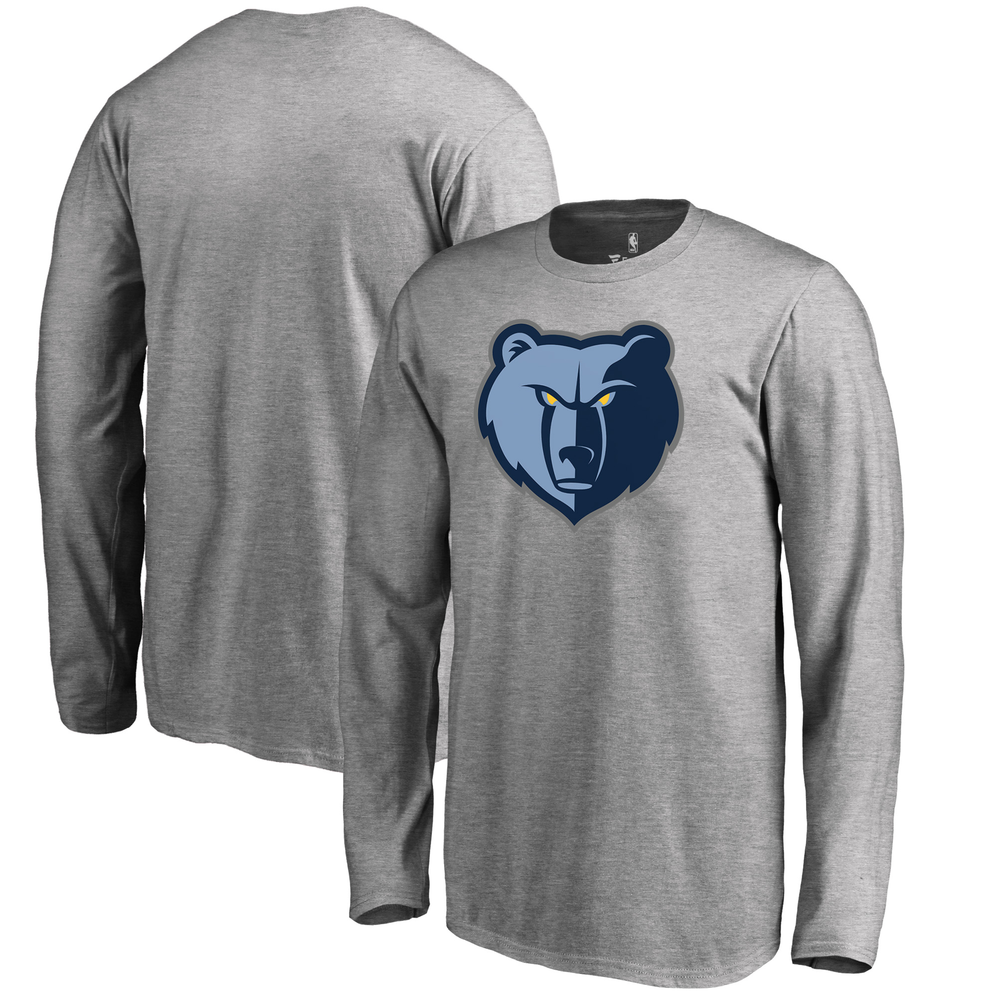 Memphis Grizzlies Fanatics Branded Youth Primary Logo Long Sleeve T-Shirt - Heathered Gray