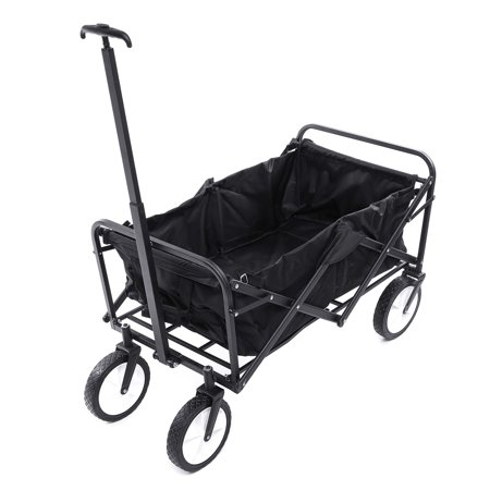 Extreme Duty Utility Cart (AUDEW Folding Wagon Cart with Telescoping Handle, Collapsible Outdoor Utility Wagon Heavy Duty Beach Wagon for Kids,Garden, Beach, Shopping with Oxford Basket Dust Protection Cover )