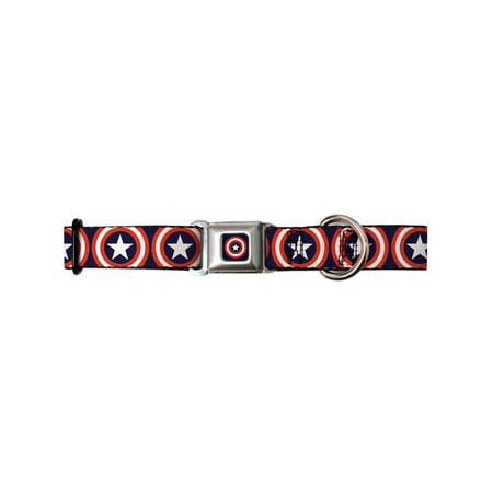 captain america marvel comics superhero shield collage seatbelt pet dog collar - Superhero Dog Collars