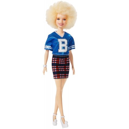 Barbie Fashionistas Doll, Petite Body Type Wearing Team Jersey (Halloween Doll Body Makeup)