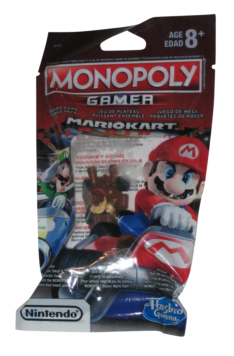 NEW Monopoly Gamer Mario Kart Board Game Power Pack Donkey Kong FACTORY SEALED