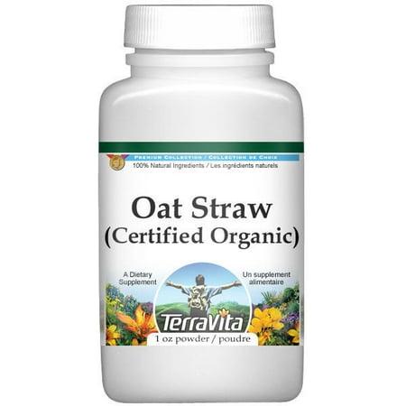 Wild Oat Straw (Avena Sativa) (Certified Organic) Powder (1 oz, ZIN: 518611)