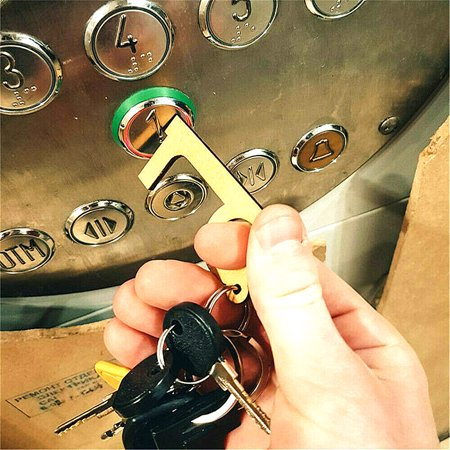 Mini Contactless Door Opener Closer No Contact Key Pendant with Simple Key Ring for Direct Contact with ATM Elevator Buttons Door Handles - image 2 of 7