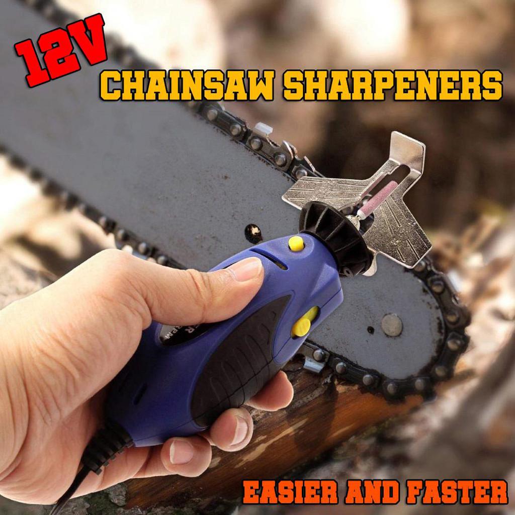 12V Chainsaw Sharpener Grinder Electric Grinder File ChainSaw Sharpening Tool