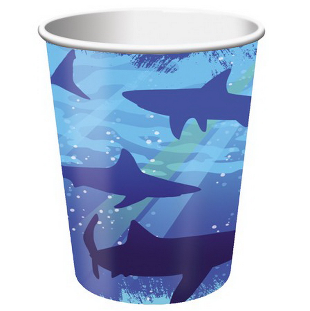 (Price/Case)Creative Converting 375887 Shark Splash 9 Oz Hot/Cold Cup (Case of 96)
