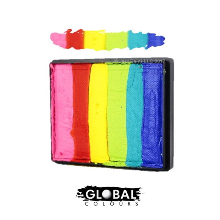 Global Body Art Face Paint - Rainbow Cake Bright Rainbow 50gr