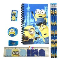 I Try Harder Minions Despicable Me Back to School Stationery Set Blue