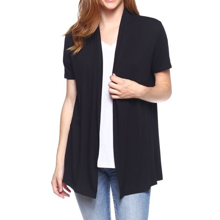 Open Front Knit Cardigan Sweaters Women Regular and Plus Size Soft