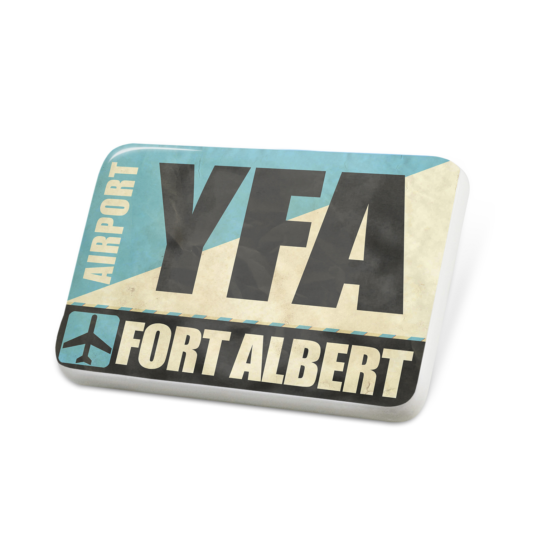 Porcelein Pin Airportcode YFA Fort Albert Lapel Badge – NEONBLOND