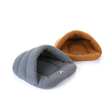 Soft Polar Fleece Pet Mat Winter Warm Nest Pet Cat Small Dog Puppy Kennel Bed Sofa Sleeping Bag Camel M - image 1 de 7