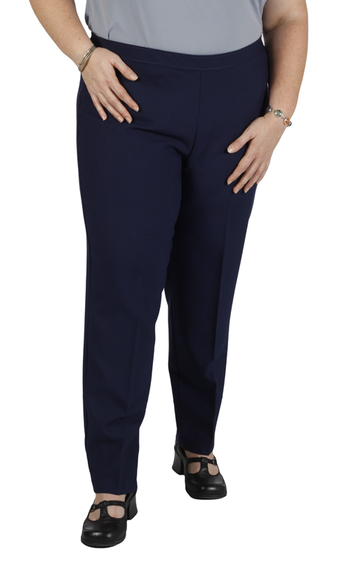 Women's Plus Size Black Bend Over® Pull-On Pants - 16W