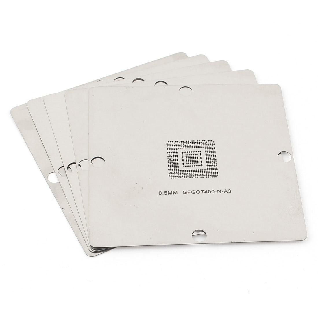 5pcs 90X90mm Rework BGA Reball Universal Stencil Template for GFGO7400-N-A3 by