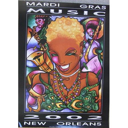 Lionel Milton 2002 Music Mardi Gras Music Festival Art Print, World Famous Artist Lionel Milton- By New Orleans (Halloween Music Festival New Orleans)