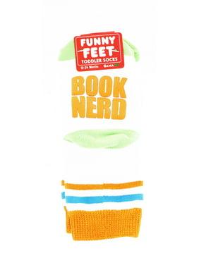 Funny Feet Toddler Socks: Book Nerd