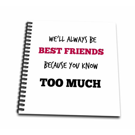 Friendship Note (3dRose Best friends. Friendship. Saying. Quotes. - Mini Notepad, 4 by 4-inch)