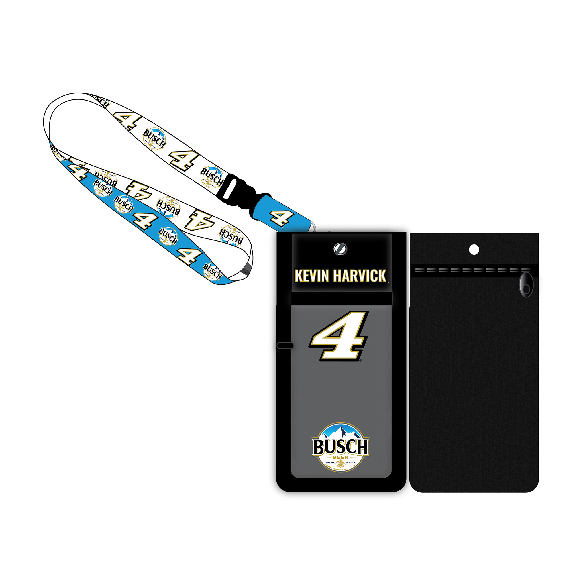 Kevin Harvick Deluxe Credential Holder with Lanyard - No Size