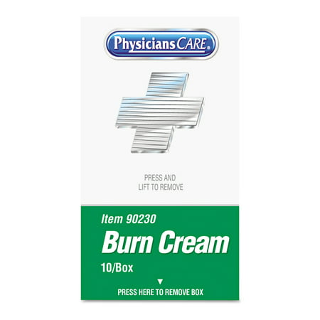 PhysiciansCare by First Aid Only XPRESS First Aid Kit Refill, Burn Cream, 10/box