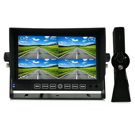 "HD Multi-Camera DVR Video Recording Driving System, 7"" Display Monitor, Night Vision Cams,"