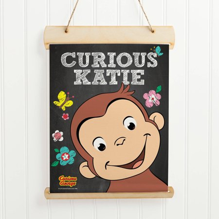 Personalized Curious George Flower Hanging -