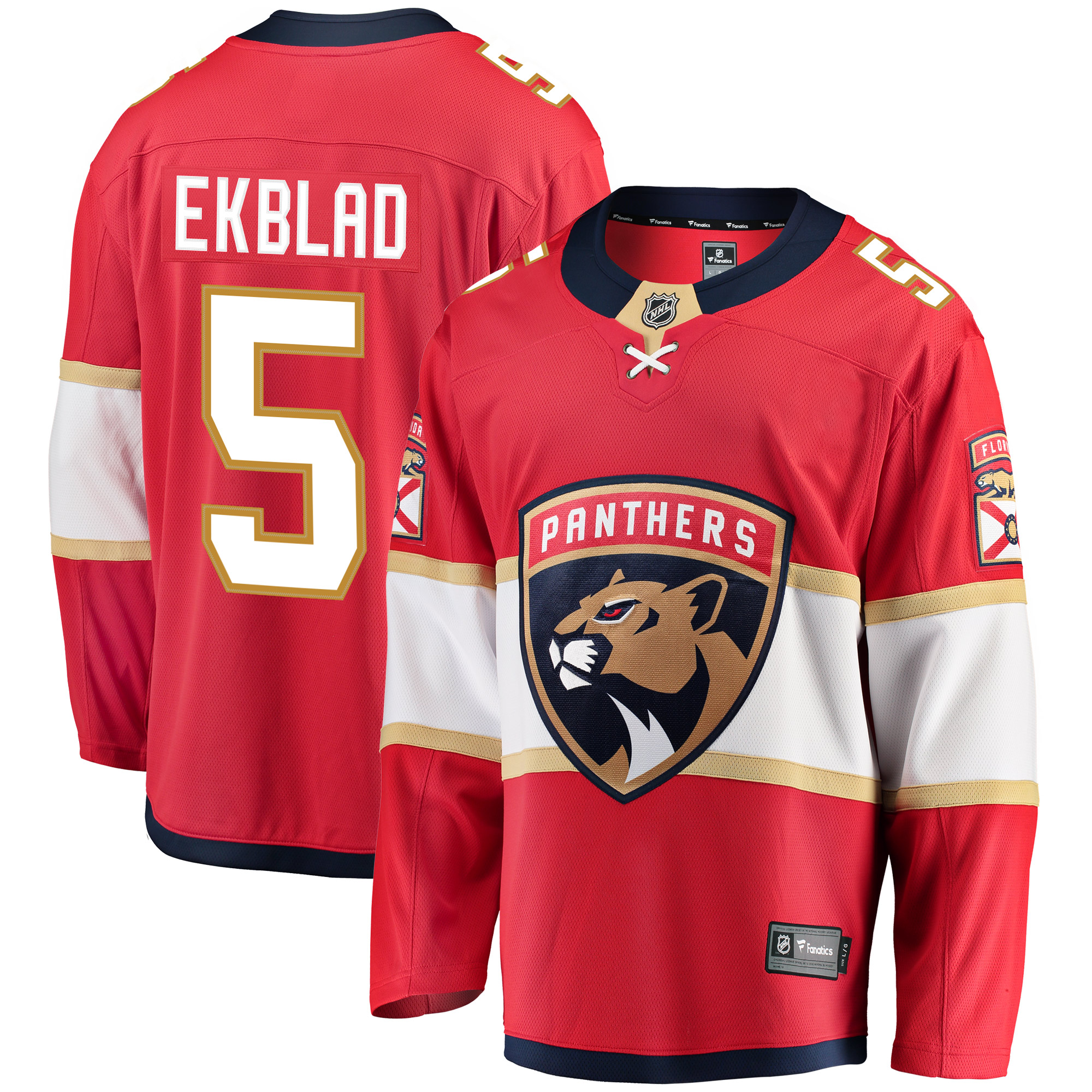 Aaron Ekblad Florida Panthers Fanatics Branded Breakaway Player Jersey - Red
