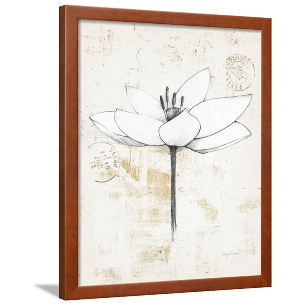 Pencil Floral I Gold Framed Print Wall Art By Avery Tillmon Walmart Com Walmart Com