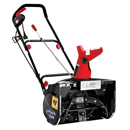 Electric Snow Thrower with Light in Red and Black (Snow Throwers On Sale)