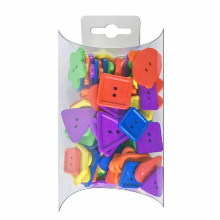 Favorite Findings Colorful Shapes Mix Value Buttons, (Counting Buttons)