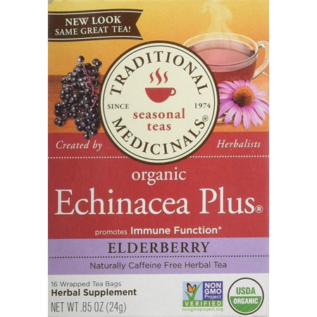 Echinacea Plus Elderberry, Supports The Immune System By Traditional Medicinals